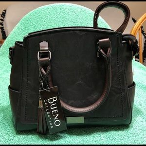 Black and brown satchel